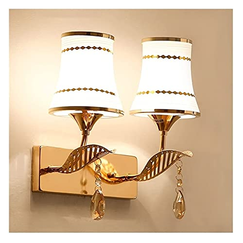 JNWEIYU Lámpara de Pared Interior Moderna lámpara de Pared Cristal Colgante decoración Pared de Pared Dormitorio Pasillo escono lámpara de Noche lámpara de Cama Fondo de Pared lámpara de Pared E27