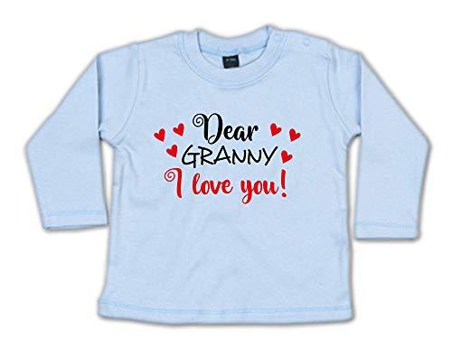 G-graphics Baby Sweatshirt Dear Granny, I Love You! 268.0632 (6-12 Monate, blau)