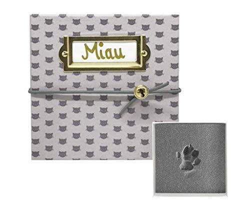 MY MAGIC FOOTPRINT Bezauberndes Katze Pfotenabdruck Set, Tatze Pet Imprint, Personalisierbares Geschenk, Liebevolles Geschenk, Einfache und Saubere Anwendung