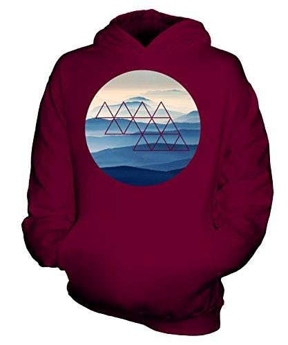 Candymix - Impresión de moda de las Montañas Foggy - Sudadera unisex con capucha para niños y niñas