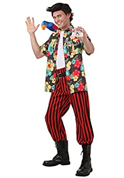 Ace Ventura Costume with Wig Medium Brown