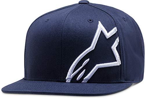 Alpinestars Corp Snap Hat Gorra con Visera, Navy/Bianco, OS para Hombre