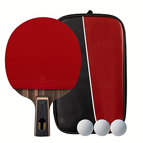Conjunto De Tenis De Mesa Bolas Portátiles Ping Pong Set Para La Mesa De Juegos De Mesa Al Aire Libre Interior Tabel De Tenis Con Paletas, Bolas De 3 Estrellas Y Bolsa De Almacenamiento,Pen ho