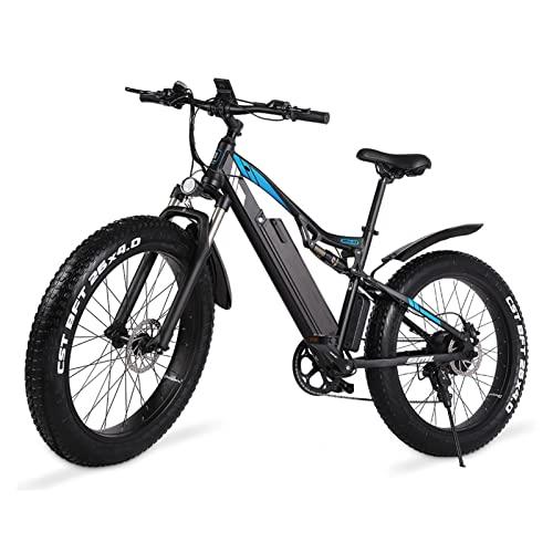 Bicicleta eléctrica con neumáticos de grasa de 26 pulgadas para adultos, bicicleta eléctrica de 25 MPH con batería extraíble de 48 V, bicicletas eléctricas para adultos de 1000 W con pantalla LCD