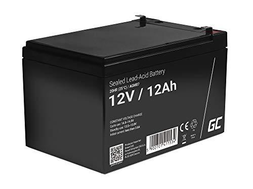 Green Cell® Akku Bleiakku Batterie AGM (12V 12Ah VRLA Faston F2) Zyklenfester Sealed Lead-Acid Blei Ersatzakku Solar Solarpanel Batterie Photovoltaik Versorgungsbatterie wartungsfrei Varianten