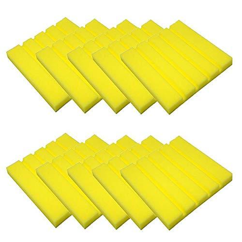 LightKids Akustik-Schaumstoff-Fliesen, klassisch, Schalldämmung, 25 x 25 x 2 cm, 10 Stück gelb
