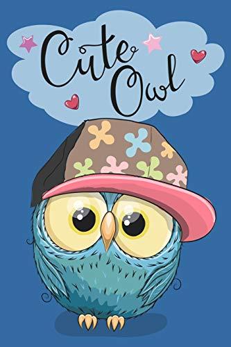 Eulen Notizbuch: Eulen Cover Design Cute Owl / 120 Seiten / Punktraster / DIN A5 + / Soft Cover / Optimal als Tagebuch, Bullet Journal, Rezeptbuch, Malbuch, Skizzenbuch usw.