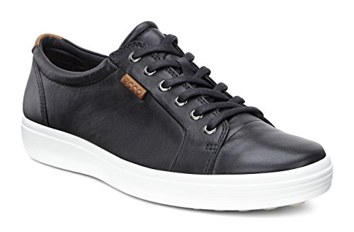 ECCO Men's Soft 7 Tie Fashion Sneaker, Black, 43 EU / 9-9.5 US