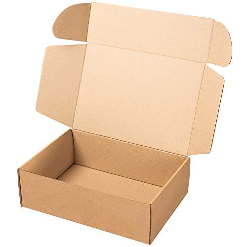 packer PRO Pack 25 Cajas Carton Envios Kraft Automontables para Ecommerce y postal, Mediana 34x23,5x11cm