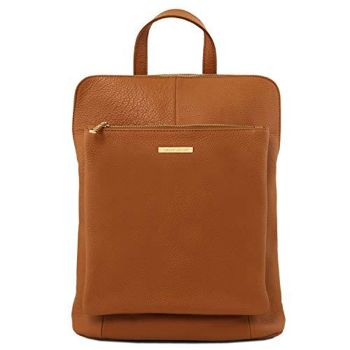 Tuscany Leather TL Bag - lederen rugzak voor dames van zacht leer - TL141682, cognac (meerkleurig) - TL141682