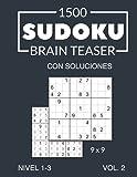 1500 Sudoku Brain Teaser 9x9 con soluciones Nivel 1-3 Vol. 2