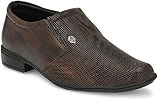 ELEVATE Kids Formal Office Wear Dark Brown Color Shoe's with lace
