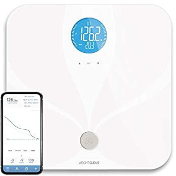 Weight Gurus Wifi Smart Connected Body Fat Bathroom Scale