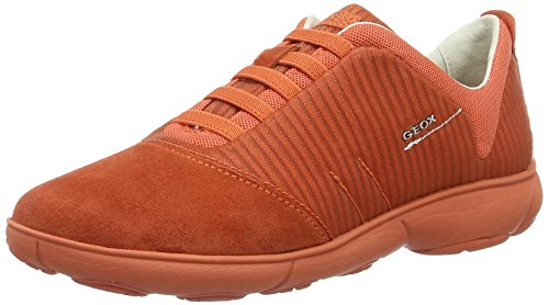 Geox Geox D NEBULA G, Damen Low-top Sneakers, Orange (DK ORANGEC7012), 41 EU