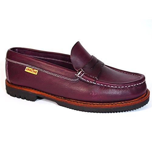 Zapatos Apache 411 Burdeos - Color - Burdeos