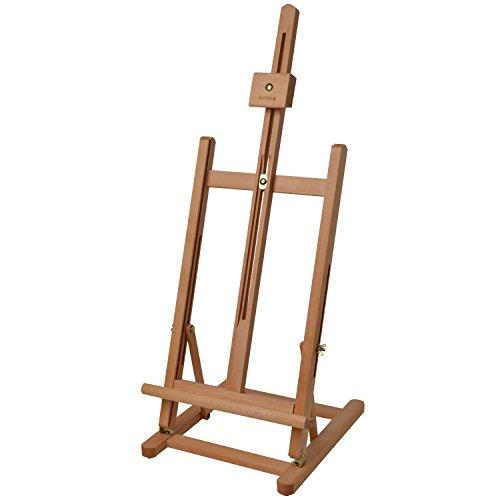 Artina Sitzstaffelei Metz Staffelei Tisch Holz Buchenholz Maler Tischstaffelei zum Malen für Deko Display Hochzeit