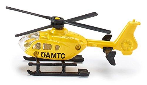Siku 085303802, ÖAMTC-Hubschrauber Österreich, Metall/Kunststoff, Gelb, Drehbare Rotoren