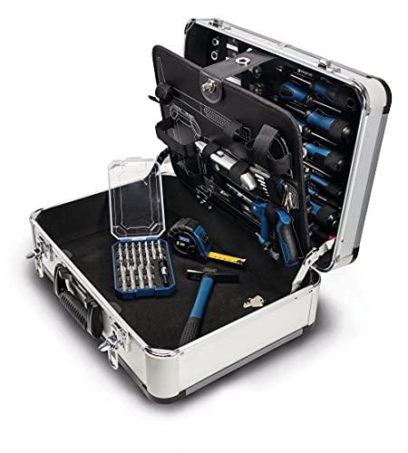 scheppach TB150 Werkzeugkoffer - 101 teilig bestückt | Metallkoffer | Handwerkerkoffer