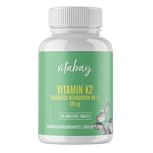 Vitamina K2 Comprimidos 100 µg (menaquinona natural MK-7) • Contribuye al mantenimiento de los huesos normales • 100{be5451fa8f840b7ae981775388a01b26344bcb0d3f8235739a5fe62bb8b564b8} Vegano y de calidad alemana
