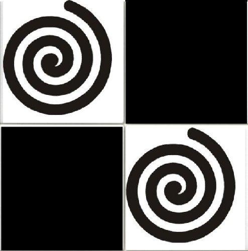 Print247 Tile Stickers - 50 adesivi da 6 x 6 pollici, facili da applicare, colore: Nero