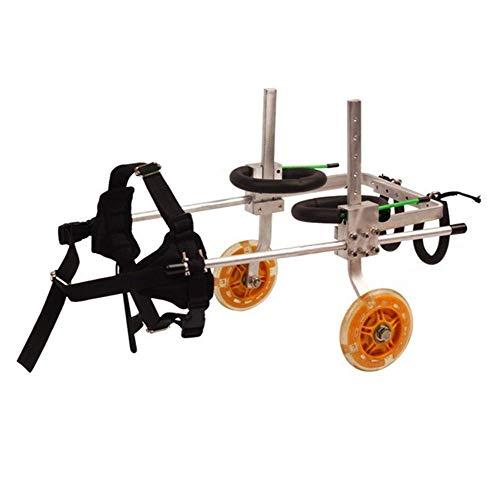 ZGONGLQQ Huisdier scooter, Grote hulpbeugel rolstoel Verlamd Gehandicapten hond Aluminium Ultra-lichtgewicht Aanpasbare Gemeenschappelijke Gratis installatie Verstelbaar (Maat: XXS)