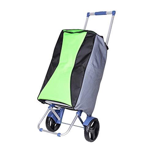 Einkaufswagen mit Roll-Einkaufstasche Wiederverwendbarer Einkaufswagen, zusammenklappbarer Wagen und tragbarer Lebensmitteleinkaufswagen Handwagen