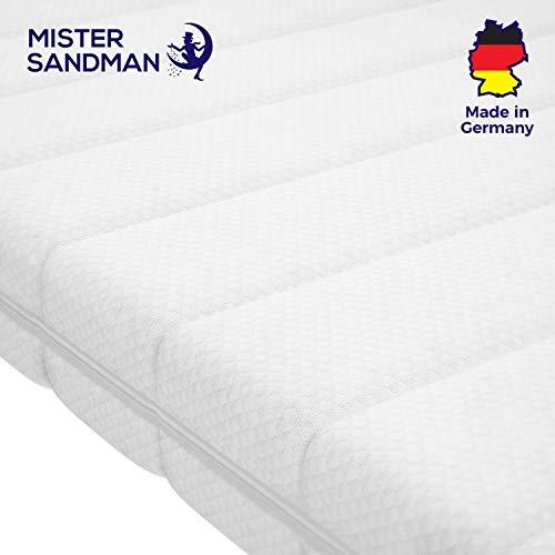 Mister Sandman Topper Confortevole in Schiuma visco per correggere Il Materasso- Elasticità Elastica e Traspirante per Tutti i Tipi di materassi (80 x 200 cm, Rivestimento Doppio Tessuto)