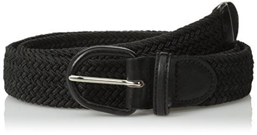 Eurosport Unisex Braided Elastic Stretch Belt, Black, Small