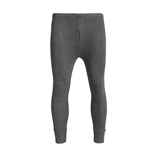 Brody & Co® leggins lunghi da uomo, calzamaglia termica spazzolata, foderata, a costine, caldo strato invernale, antracite Charcoal Medium