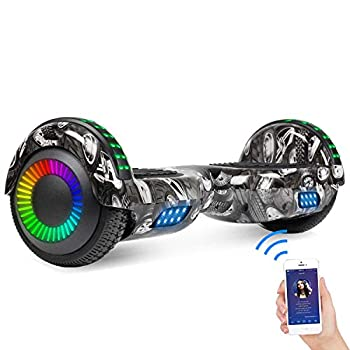 SISIGAD Hoverboard Self Balancing Scooter 6.5 Two-Wheel Self Balancing Hoverboard with Bluetooth Speaker for Adult Kids Gift - Fun Edition