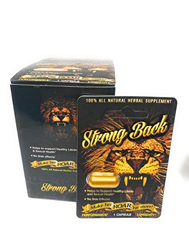 Strong Back Pills 12 Capsules/All Natural Male Enhancement Supplements Pills
