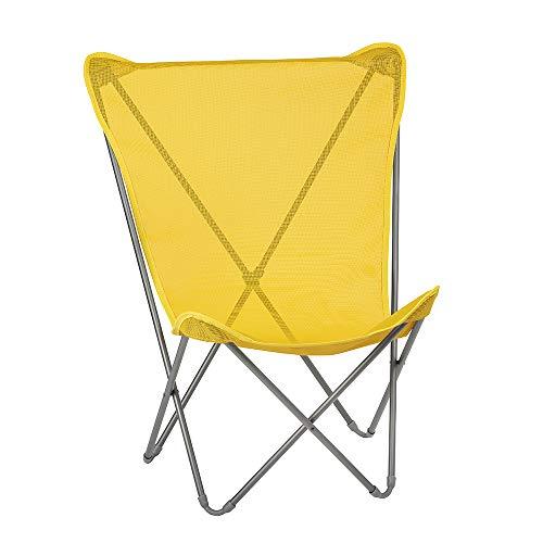 LAFUMA MOBILIER Sessel für den Außenbereich, Klappbar und kompakt, MAXI POP UP, Plastitex, Farbe: Tournesol, LFM2930-9273