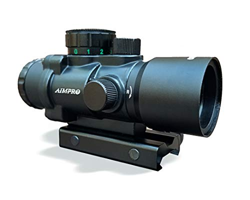 AIMPRO Compact Prism Rifle Scope Small Durable and Precise 3.5 x 30mm Etched Illuminated Reticle