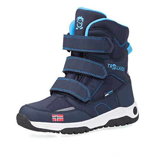 Trollkids Kinder Lofoten Winter Schuhe, Marineblau/Mittelblau, Größe 35
