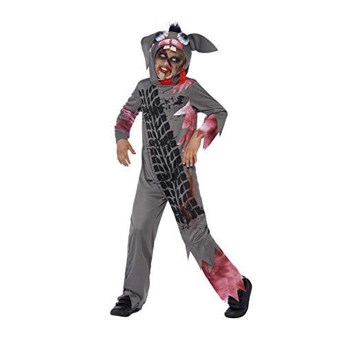 SMIFFYS Smiffy's 44301M - Deluxe Roadkill Pet Costume Grigio con Tuta e Casco, M
