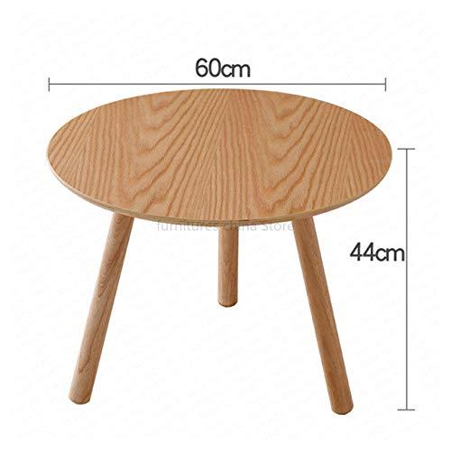 Eettafel LKU 1B Eenvoudige Scandinavische massief houten salontafel Eenvoudige bank Woonkamer Klein appartement Theetafel Ronde eettafel, 6060