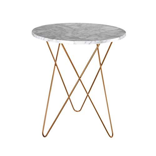 SZQ-Table Basse Table en marbre, Salon Chambre Balcon Multifonction Table Ronde Créative Salon Table de Balcon Table de Sofa (Size : 50 * 60CM)
