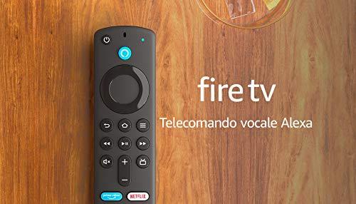 Telecomando vocale Alexa (3ª generazione) per Fire TV, con comandi per la TV – Richiede un dispositivo Fire TV compatibile | Modello 2021