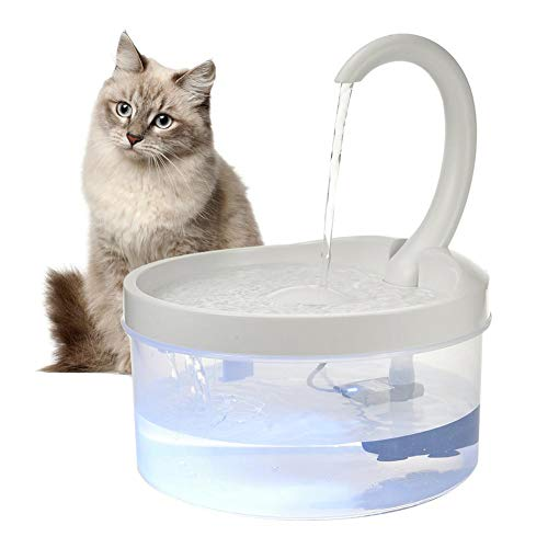 Dewdropy 2020 Newest Upgraded Cat Fountain for Pet 67oz/2L,Dog Cat Water Fountain with LED Light, Automatic Drinking Fountain,Dog Water Dispenser,Ultra Quiet, Adjustable Water Flow