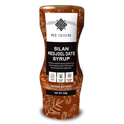 Med Cuisine Silan Date Syrup 350gr - Jarabe De Dátiles 100% Puro Y Natural Sin Azúcar - Jarabe De Café Vegano Suitable Para Paleo y Keto - Sin OGM y Gluten (1 paquete)