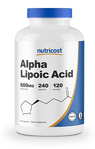 Nutricost Alpha Lipoic Acid 600mg Per Serving, 240 Capsules - Gluten Free, Soy Free & Non-GMO