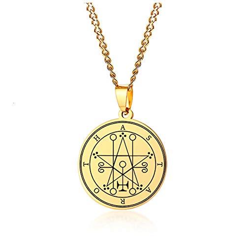 Collar de hombreCollar De Delfín De Solomon De Oro para Hombre, Collar Fresco Unisex, Estilo De Joyería4