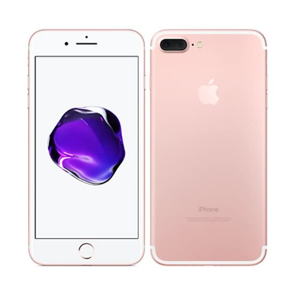 Apple iPhone 7 Plus 256 GB Unlocked, Rose Gold US Version Front and Back