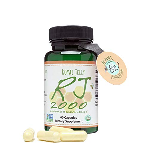 GREENBOW Royal Jelly 2000mg Equivalency – Non GMO Made with Organic Royal Jelly - One of The Most Nutrition Packed Diet Supplements – (60 Vegan Capsules)