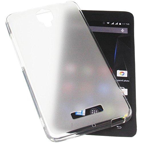 foto-kontor Tasche für Archos 50d Oxygen Plus 50D Oxygen Gummi TPU Schutz Handytasche transparent weiß