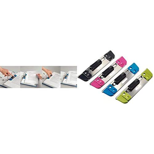 Leitz 17286099 Wow Active Hole Punch - Assorted Colours