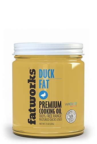 Fatworks, Premium Pasture Raised NON-GMO FED Duck Fat, WHOLE30 Approved, KETO, Paleo, Small Family Farm Sourced, 7.5 oz.