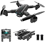 Absir S167 GPS Drone, 5G WiFi FPV RC Drone with Camera 4K HD Gesture Photos Video, Auto Return Home, Altitude Hold, Follow Me RC Quadcopter for Adults with 2 Batteries
