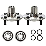 AutoShack HB618509PR Pair of 2 Wheel Bearing Hub Front Driver and Passenger Side Wheel Hub Bearing and Assembly 4 Lugs without ABS Replacement for 1998-2002 Chevrolet Prizm 1988-2002 Toyota Corolla