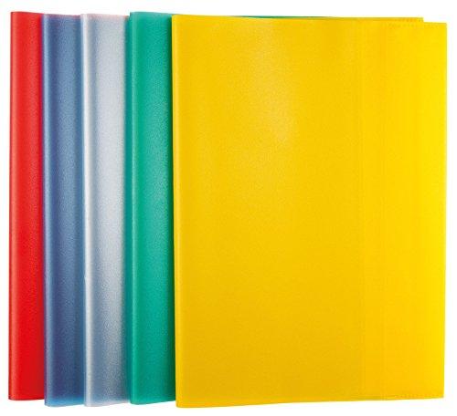 Idena 10086461 Hefthülle A5, 10 Stück, Farben sortiert